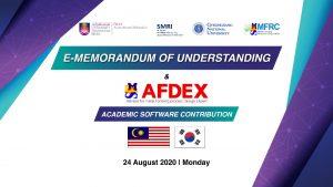 E- MoU with Gyeongsang National University and Launching of AFDEX MFRC Korea Manufacturing Simulation Centre at SMRI