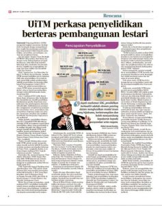 SMRI in Berita Harian, 31st July 2020