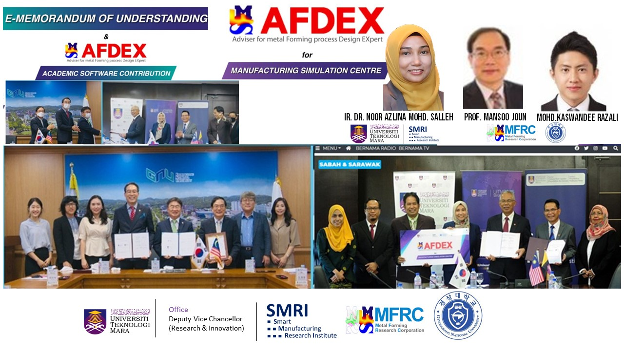 UiTM, the First Malaysian University to Receive Korean Metal Forming Simulator AFDEX Software