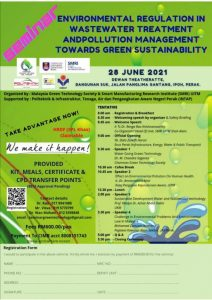 Seminar Environmental Regulation in Wastewater Treatment and Pollution Management Towards Green Sustainability