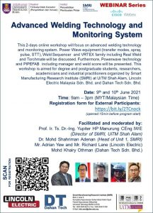 """""""Advanced Welding Technology and Monitoring System"""""""